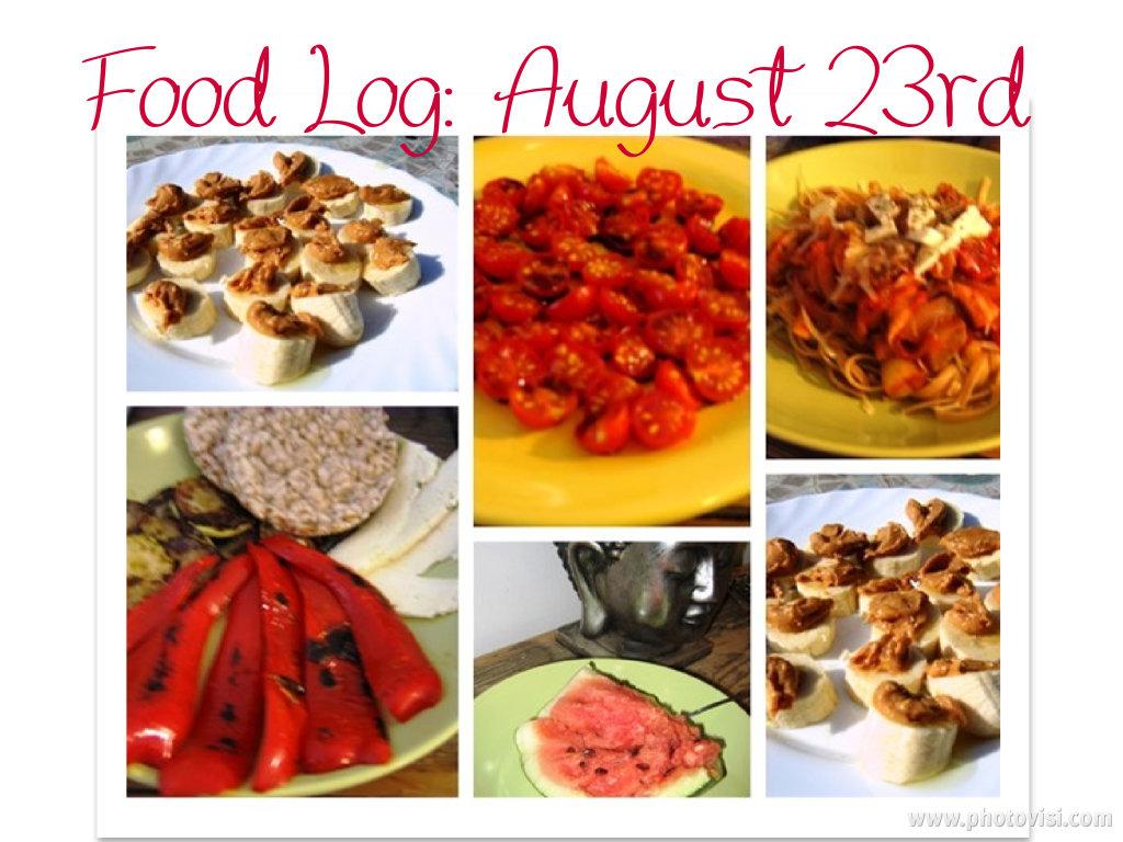 eating clean: food log august 23