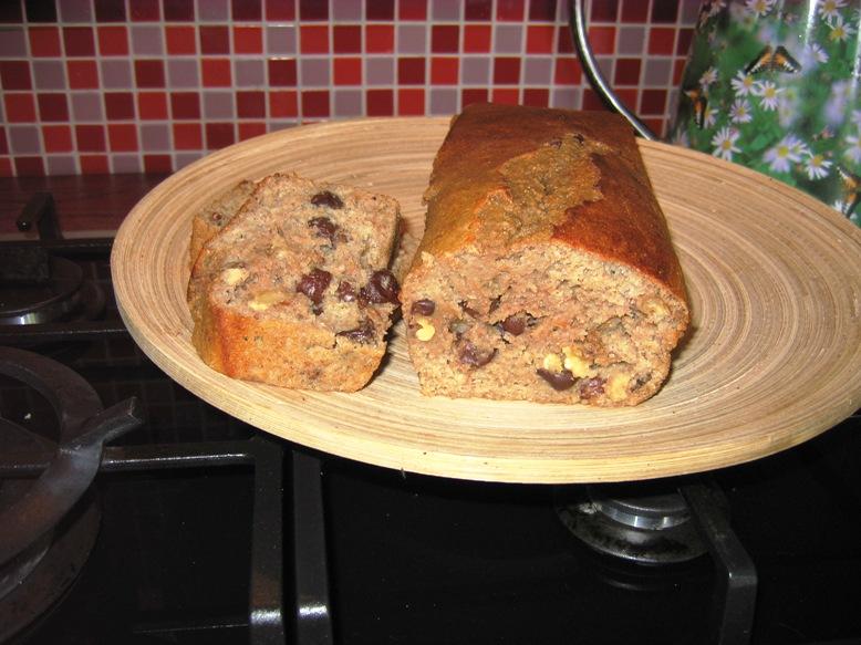 healthy cherry banana and walnut bread recipe