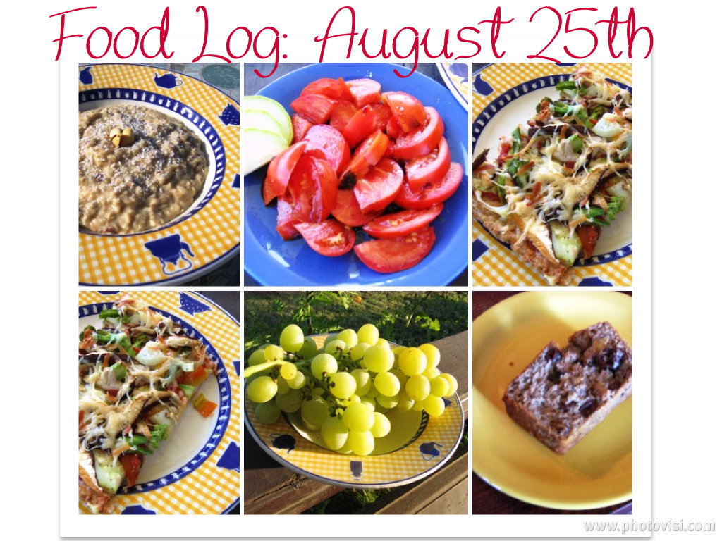 eating clean: food log 25 august