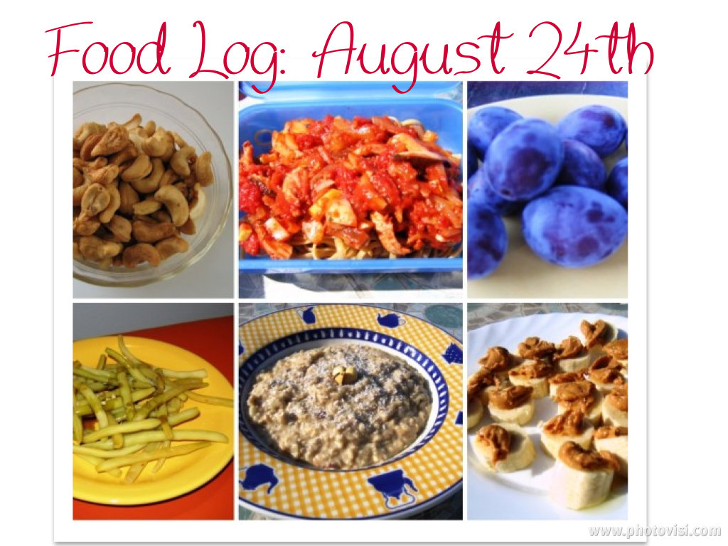 eating clean: food log, august 24