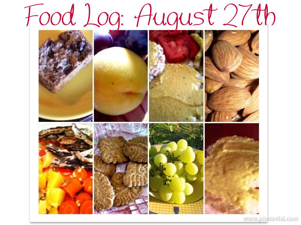 eating clean food log, august 27th