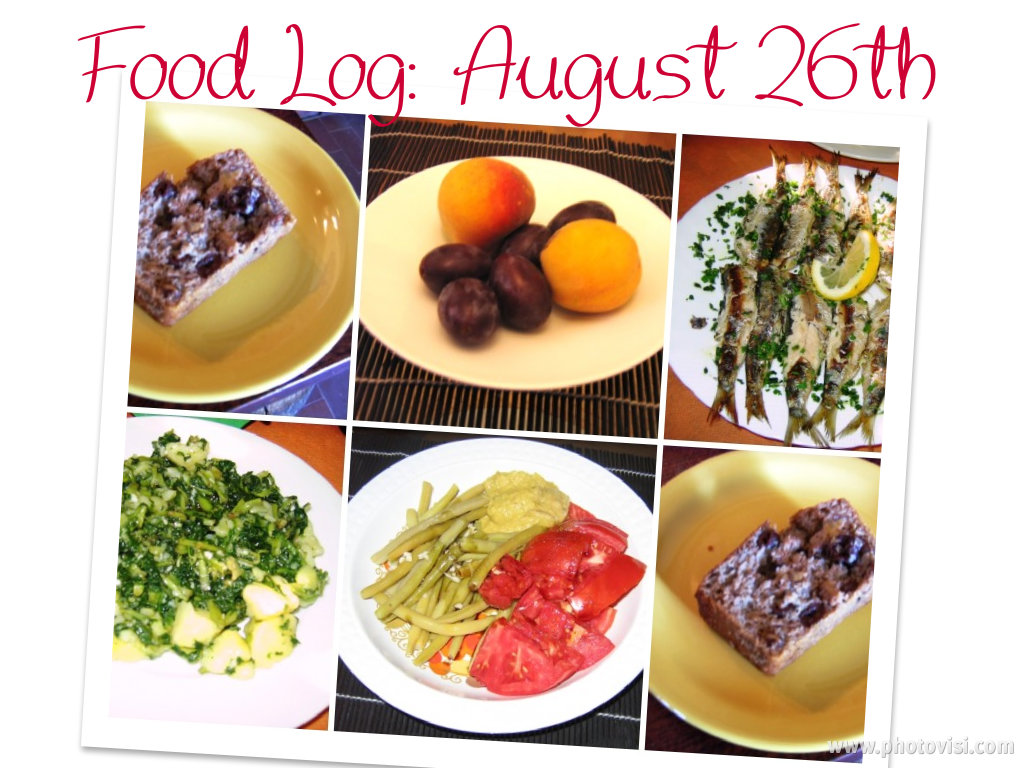 eating clean: food log, august26