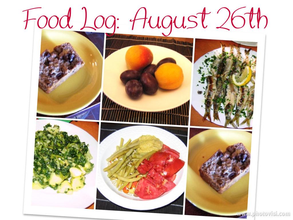 eating clean: food log, august26